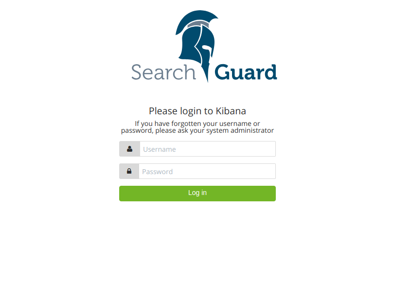 Search Guard Login UI